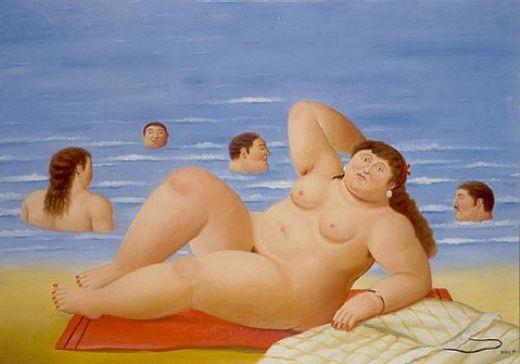Bañistas. Fernando Botero