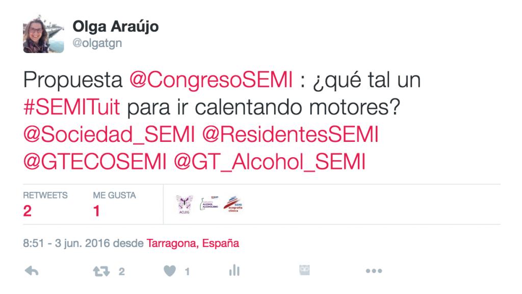 el primer tuit #SEMITuit